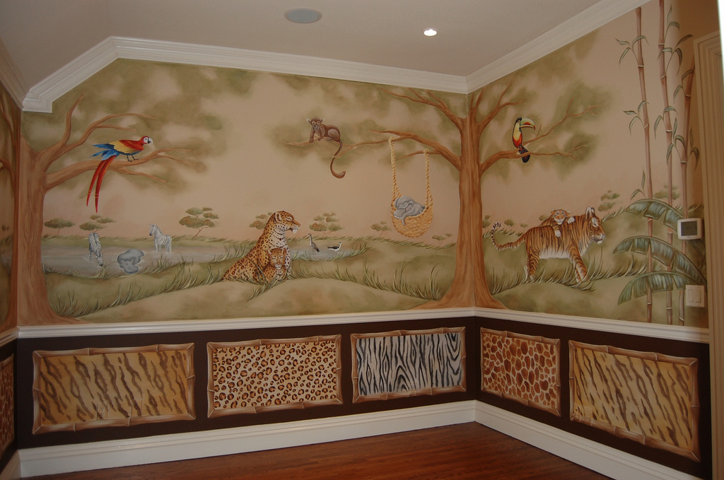 Picture of: Great Jungle Theme Nursery