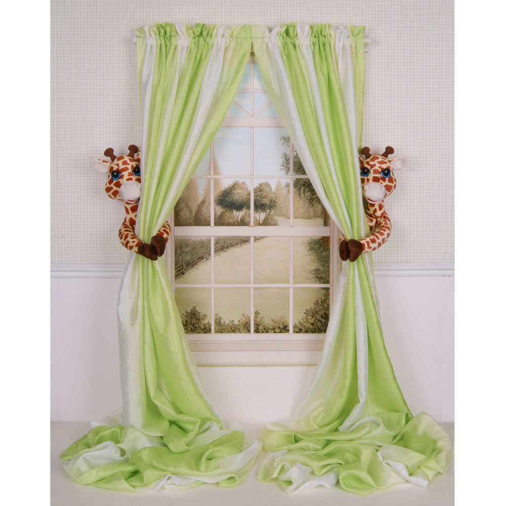 Picture of: Green nursery curtains