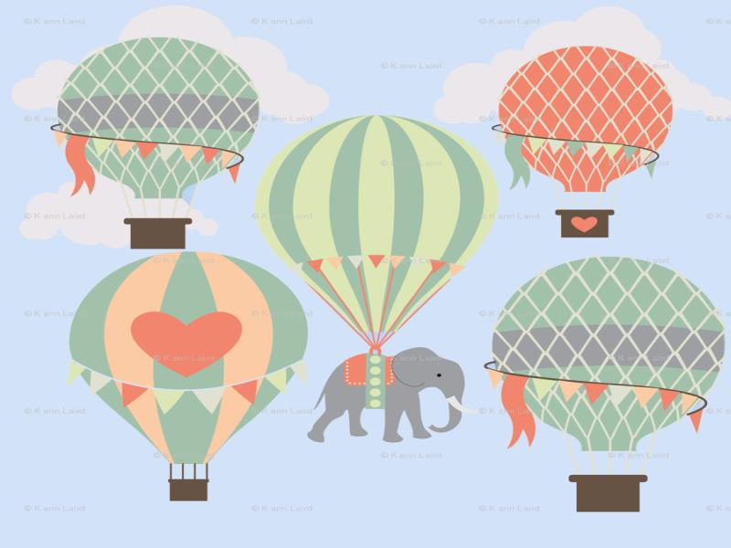 Image of: Hot Air Balloon Nursery Art