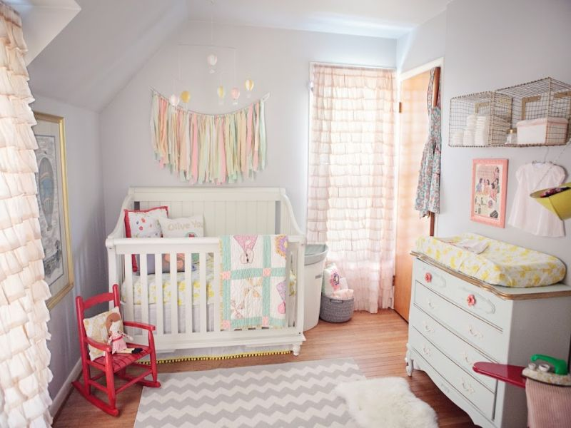 Image of: Hot Air Balloon Nursery Best