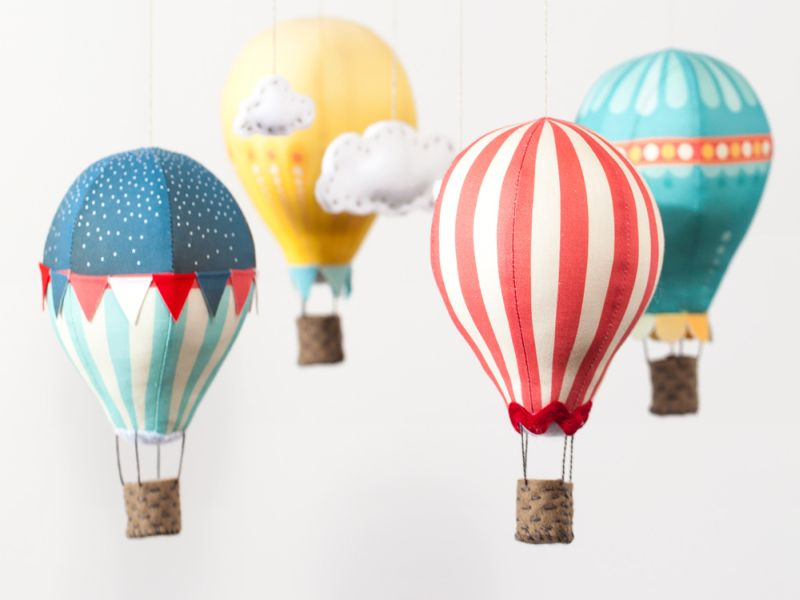 Image of: Hot Air Balloon Nursery Nice