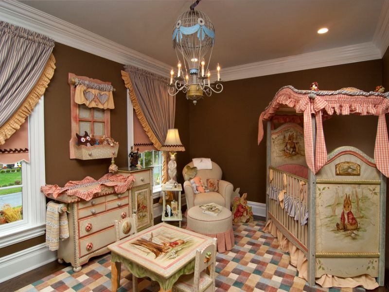 Image of: Hot Air Balloon Nursery Traditional