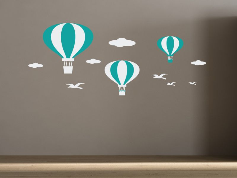 Hot Air Balloon Nursery Wall Art