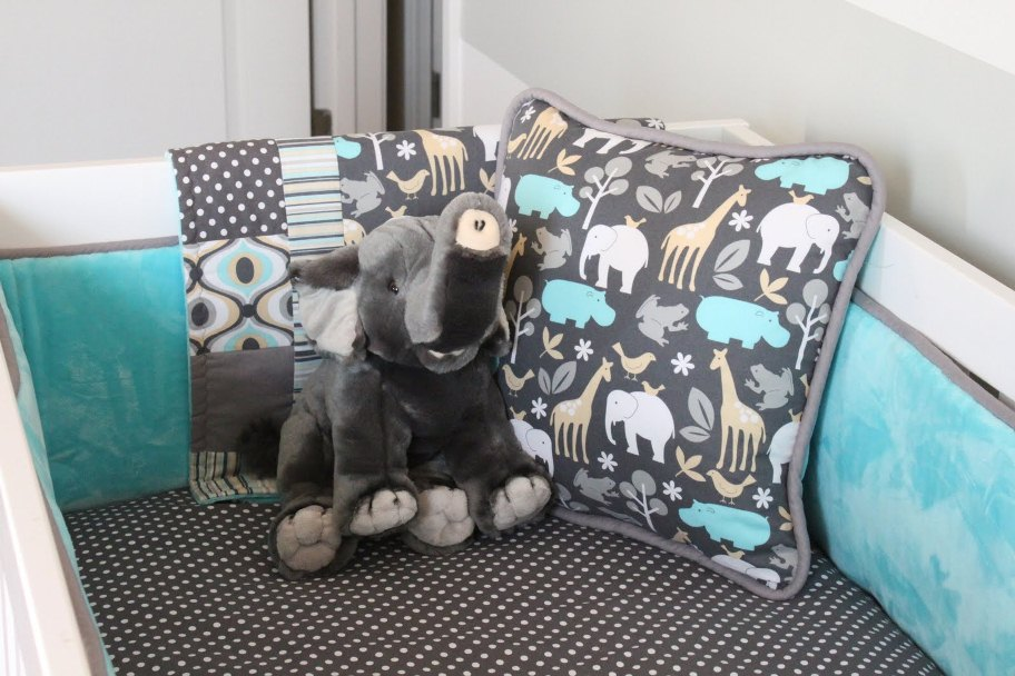 Picture of: Images of Baby Elephant Nursery Bedding Set