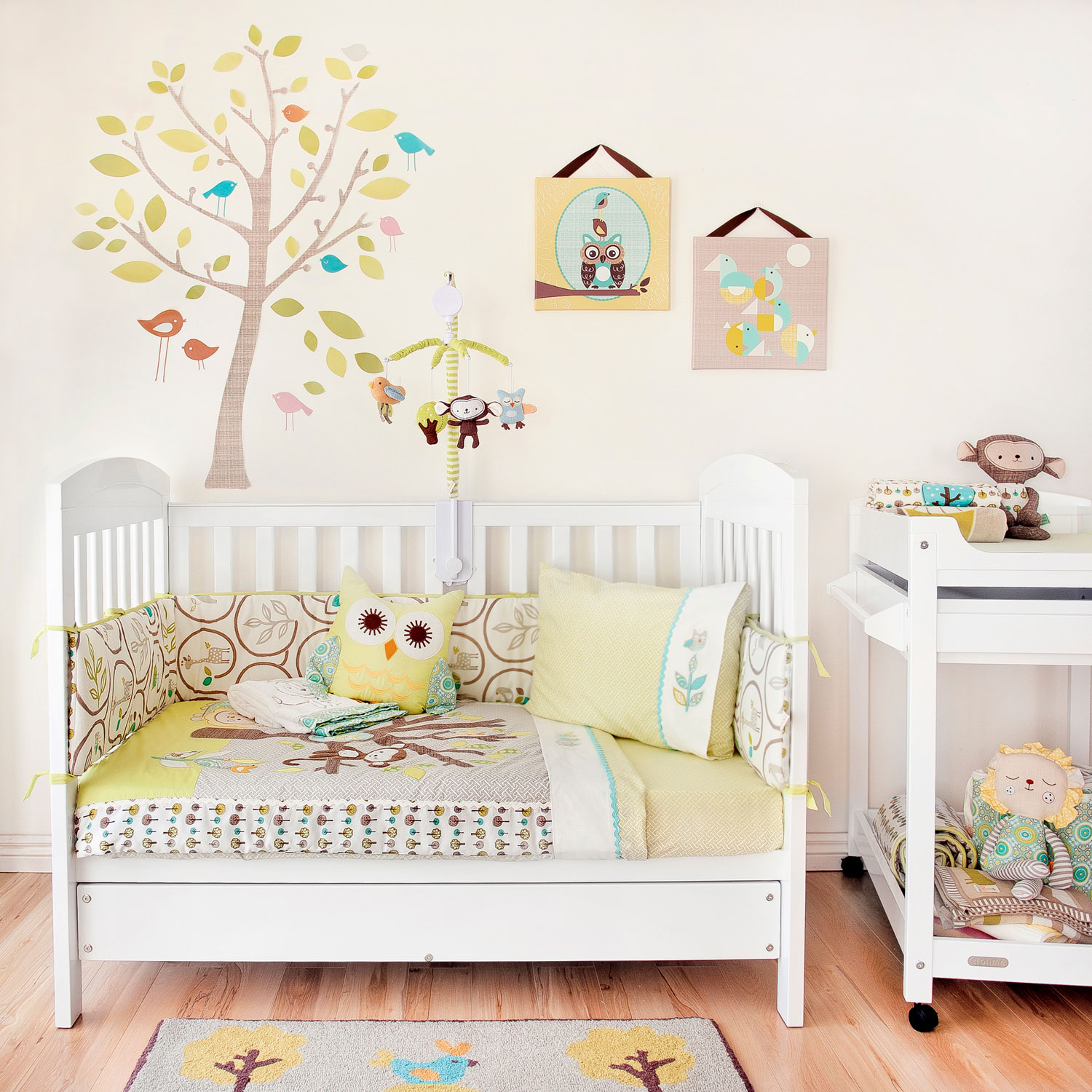 Picture of: Images of Bird Nursery Bedding