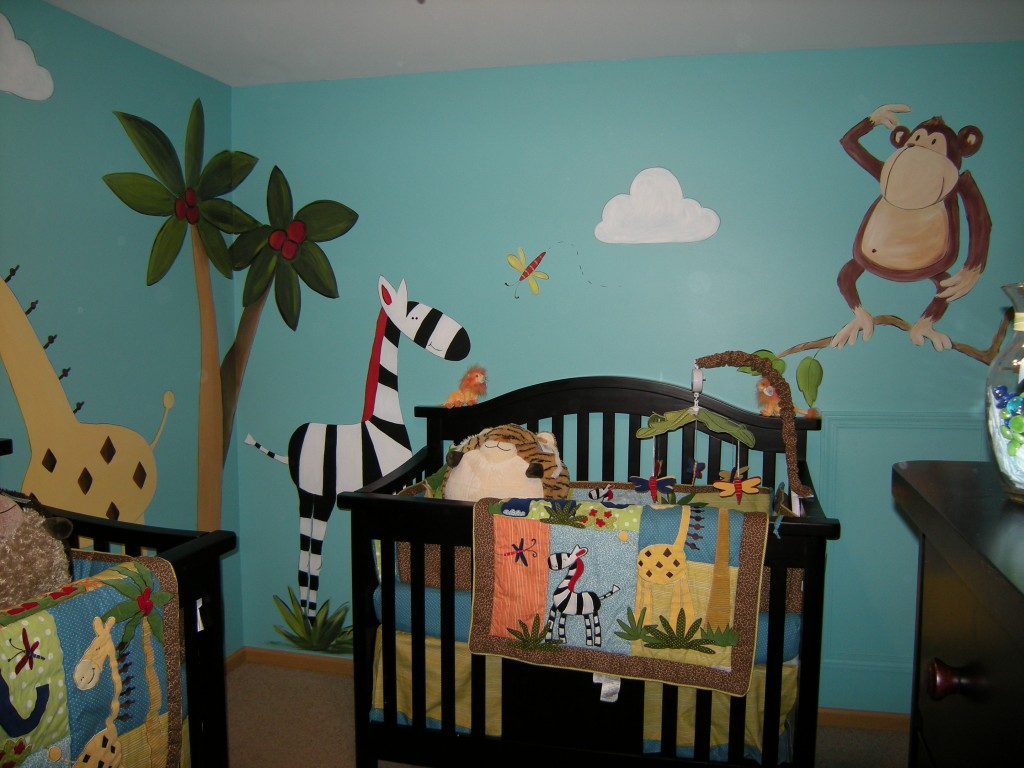 Image of: Jungle Nursery Murals
