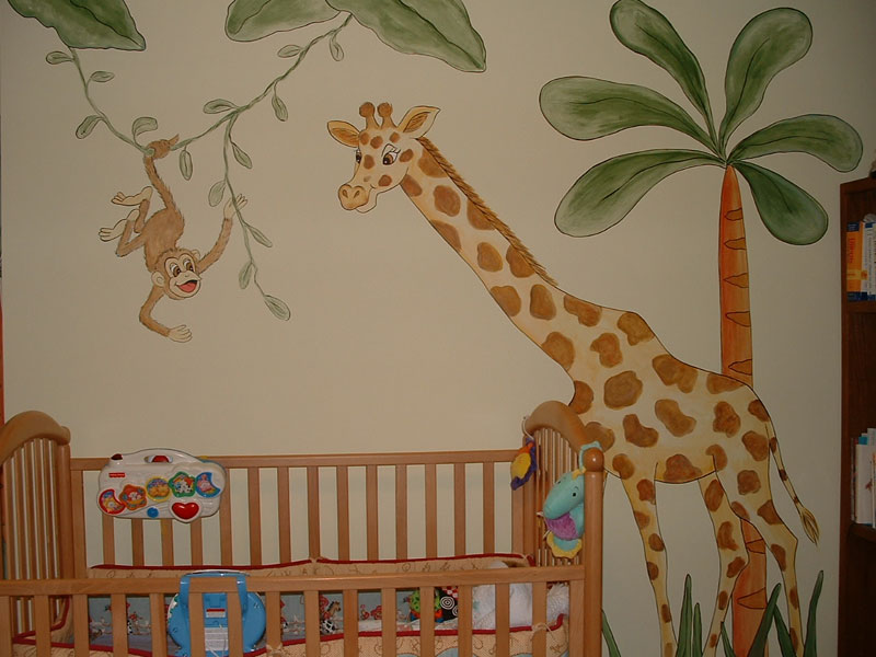 Picture of: Jungle Theme Nursery Murals
