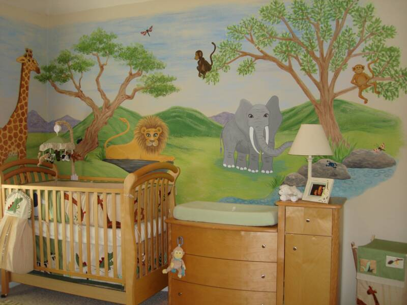 Picture of: Jungle Theme Nursery Picture