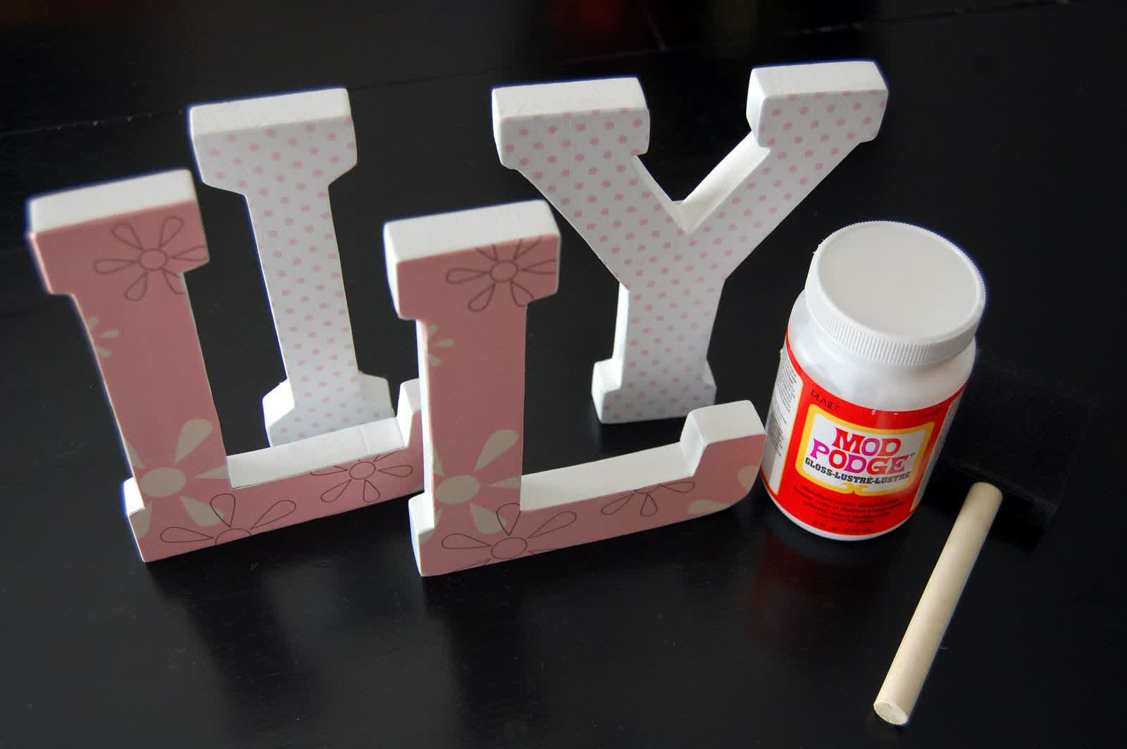 Picture of: Make Wall Letters for Nursery
