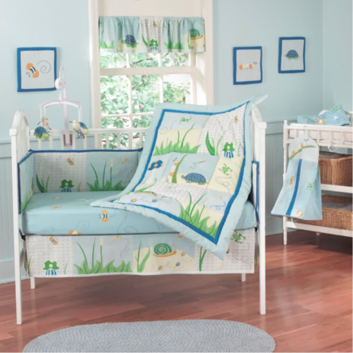 Picture of: Modern Baby Boy Nursery Bedding