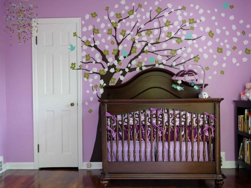 Image of: Modern Baby Girl Nursery Themes