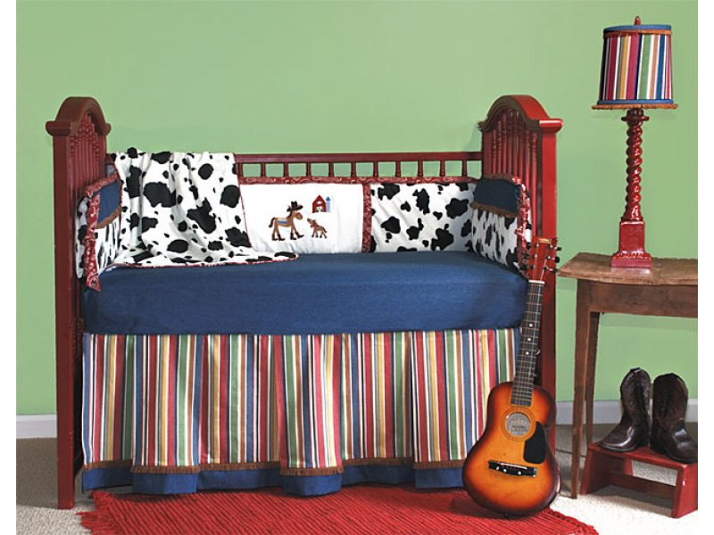 Picture of: Modern Western Nursery Bedding
