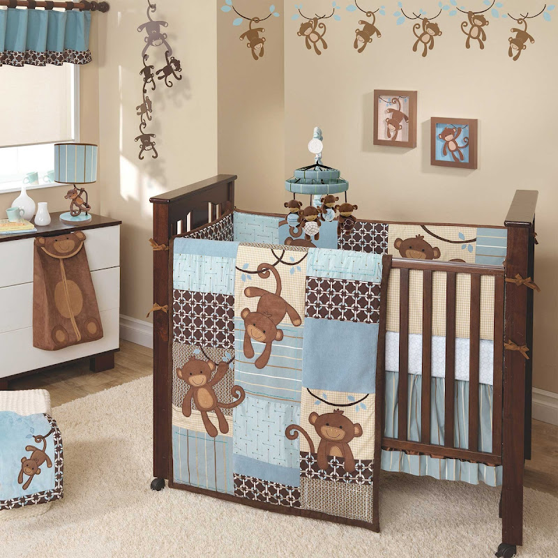 Picture of: Monkey Baby Boy Nursery Bedding