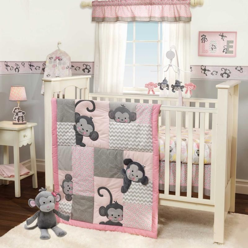 Image of: Monkey Nursery Decor Girl