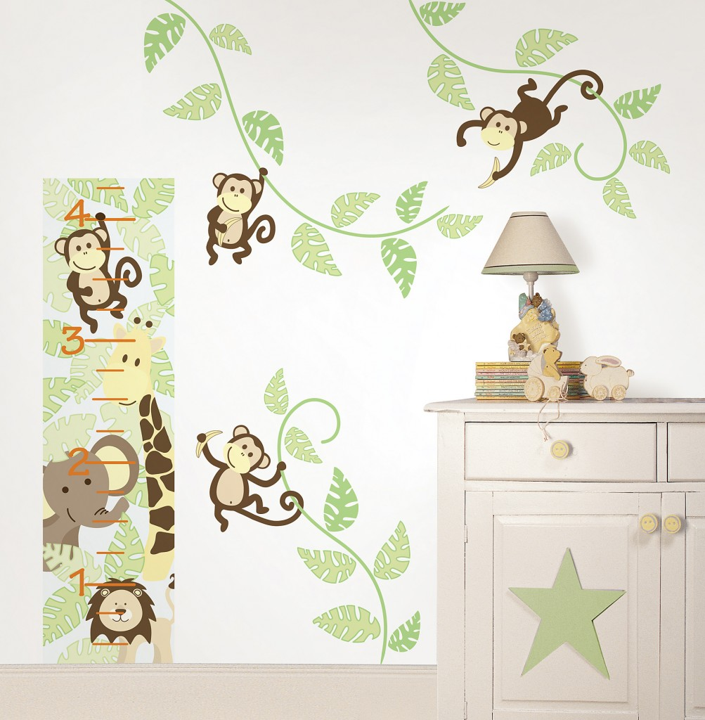 Image of: Monkey Nursery Decor Wall Decal