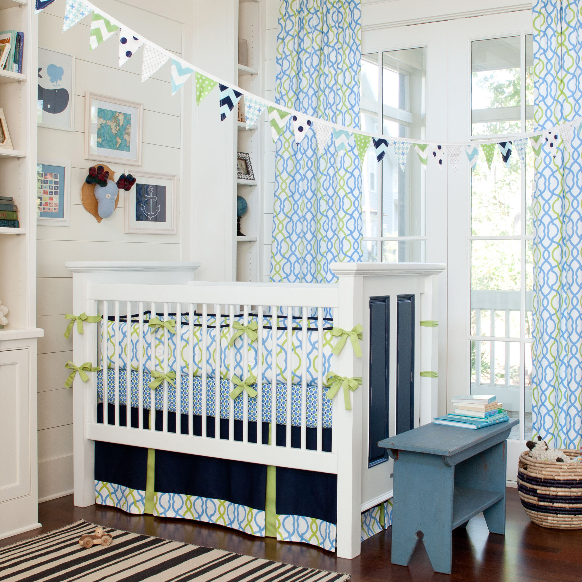Image of: Nautical Nursery Bedding Ideas