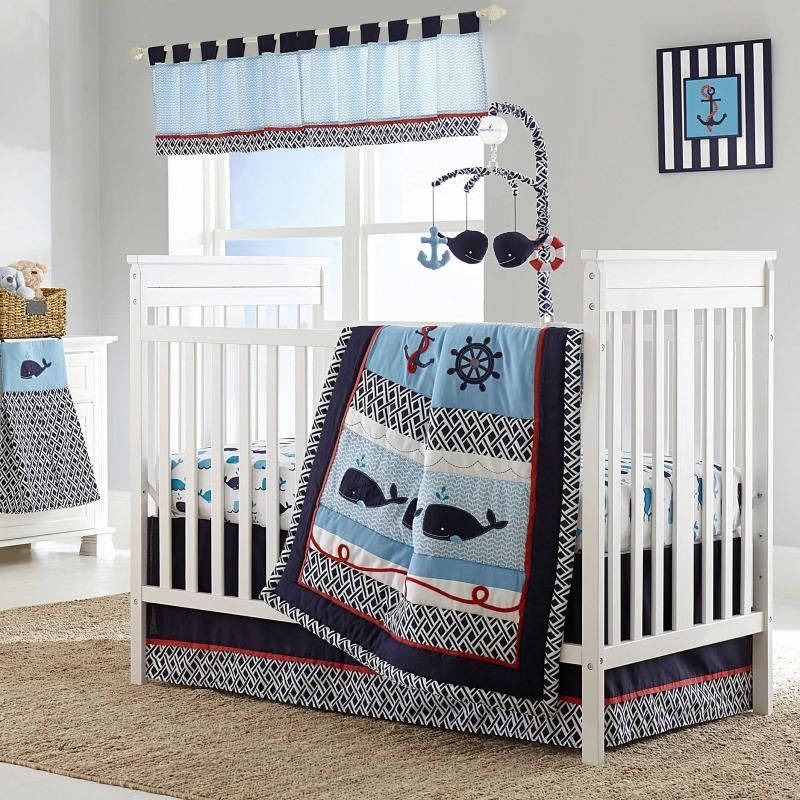Image of: Nautical Nursery Bedding