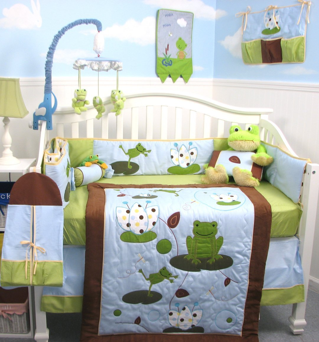 attractive Baby Boy Crib Bedding Sports Theme Part - 18: Image of: Nice Baby Boy Nursery Themes