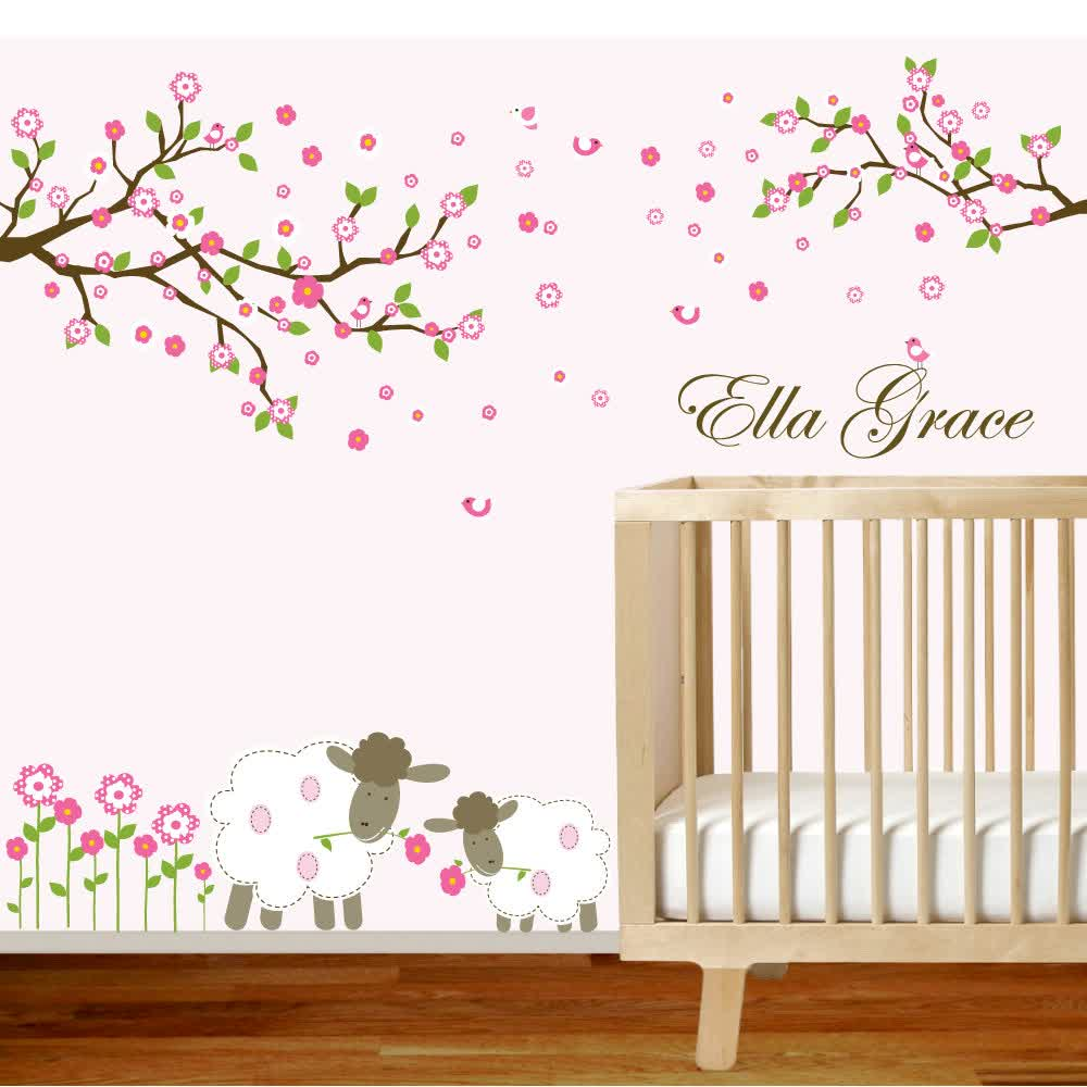Image of: Nice Wall Decals for Nursery