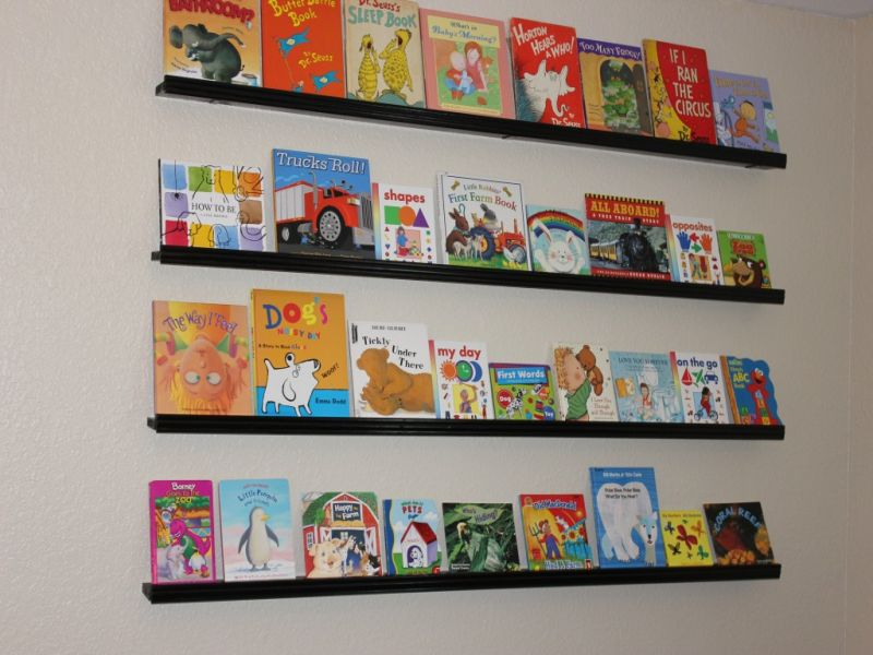 Picture of: Nursery Bookshelf DIY
