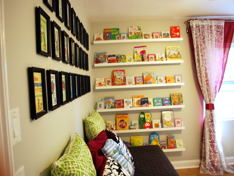 Picture of: Nursery Bookshelf in Wall