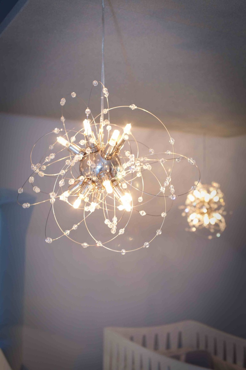 Picture of: Nursery Chandelier for Baby