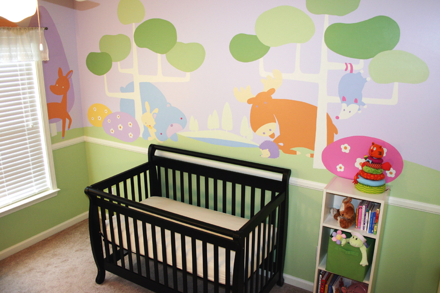 Image of: Small Nursery Murals Ideas Image