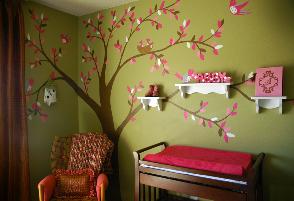Image of: Nursery Murals Tree