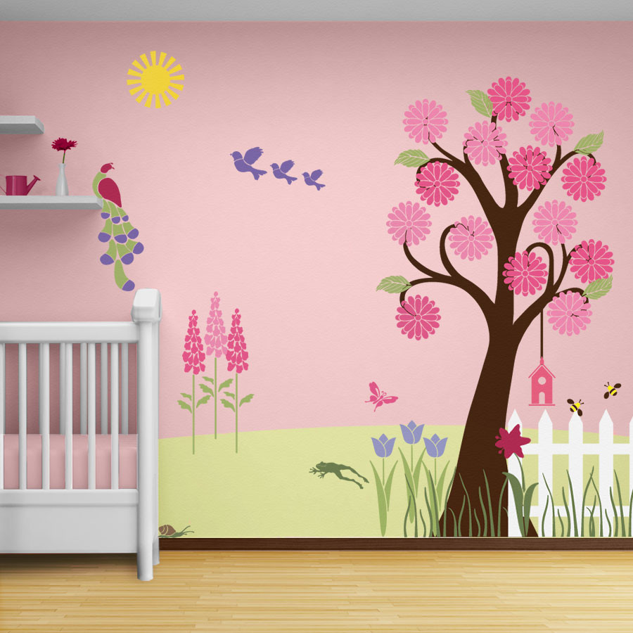 Image of: Nursery Murals Wall Decor