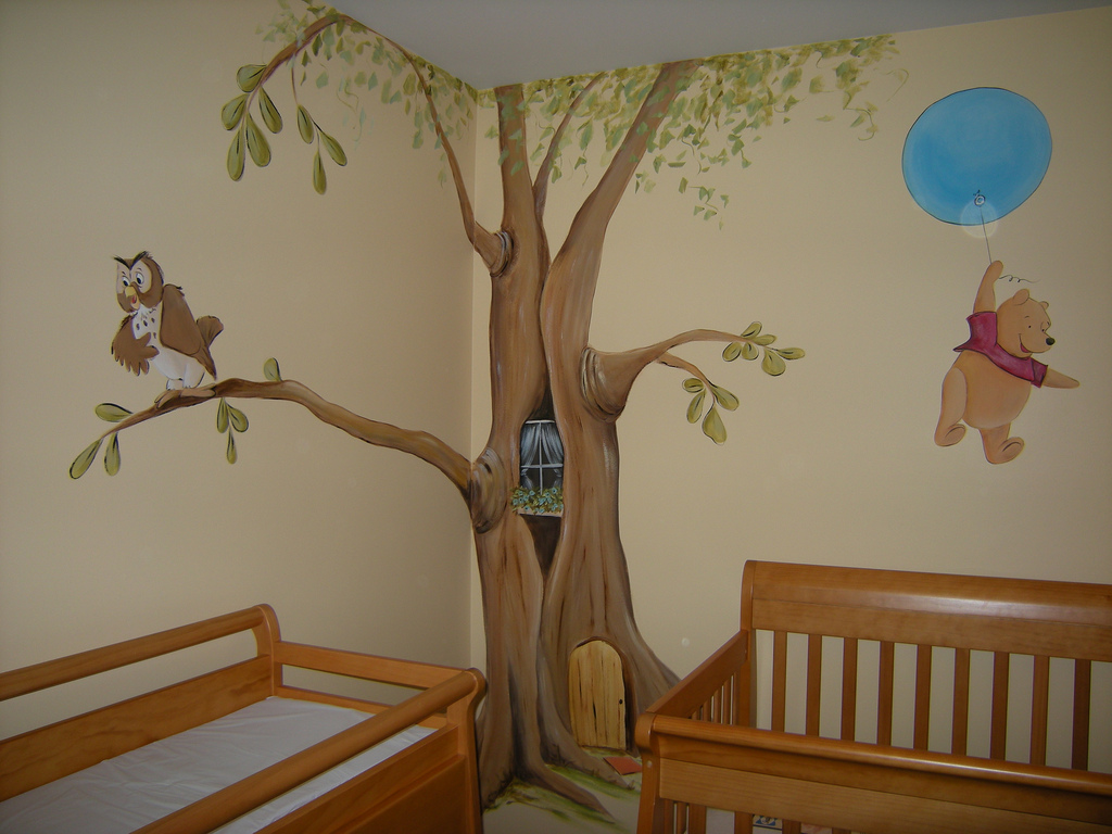 Image of: Nursery Murals Wall