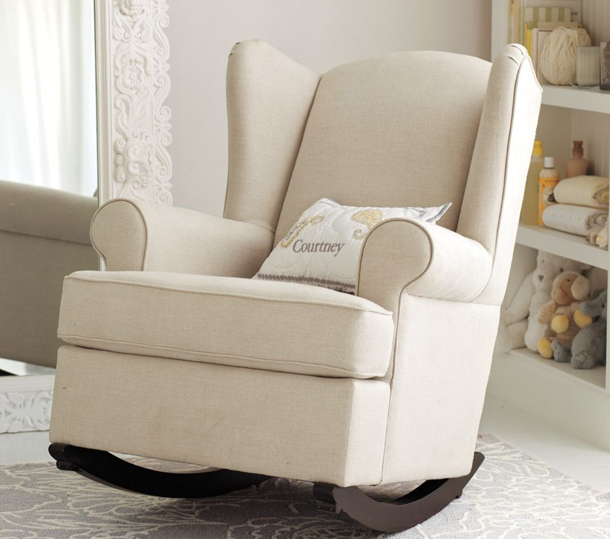 Picture of: Nursery Rocking Chair floor