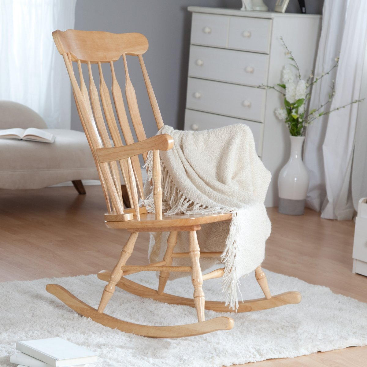 Picture of: Nursery Rocking Chair glass