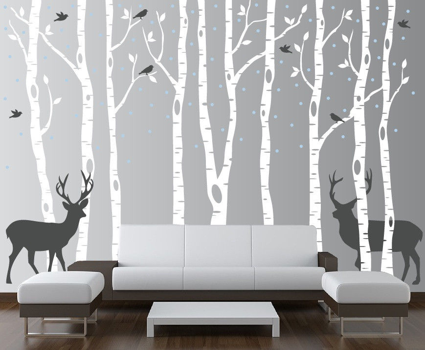 Picture of: Nursery Wall Decals black