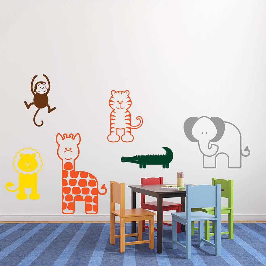 Picture of: Nursery Wall Decals gold