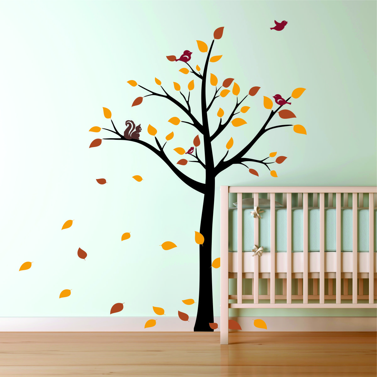 Picture of: Nursery Wall Decals green