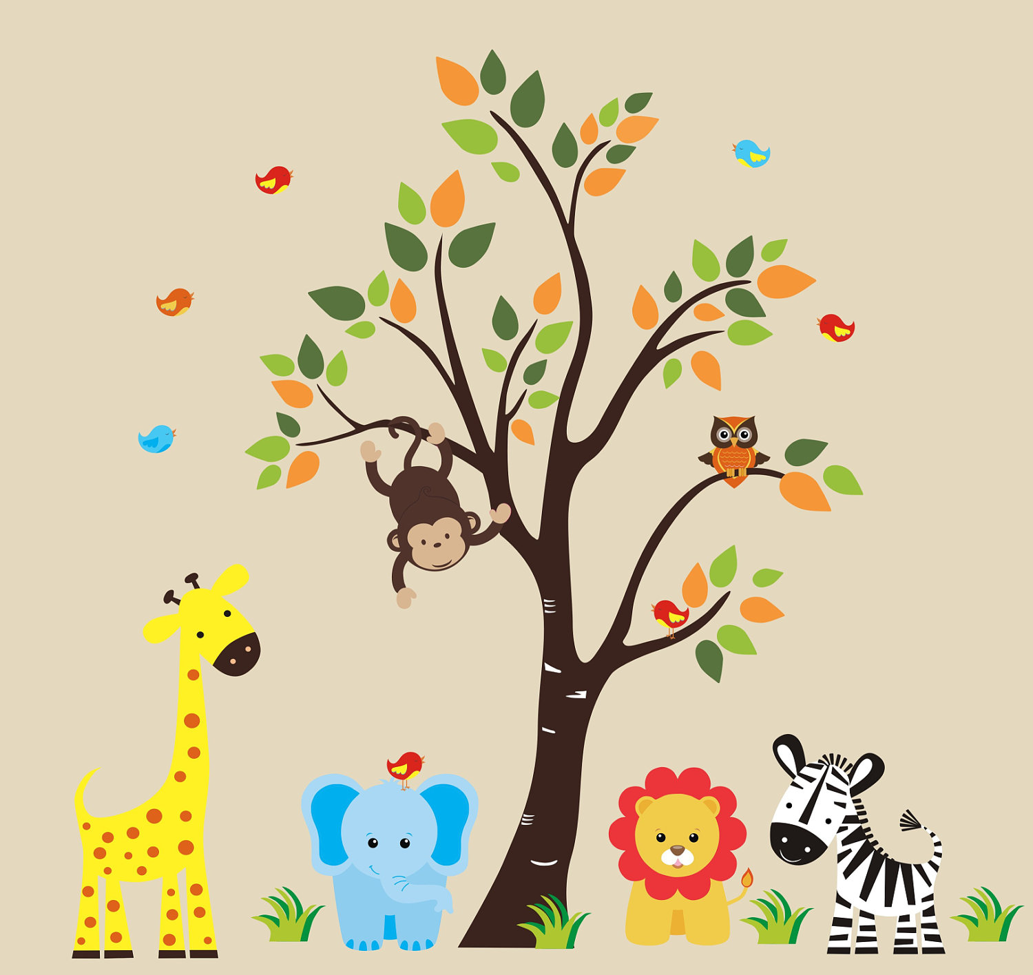 Picture of: Nursery Wall Decals monkey