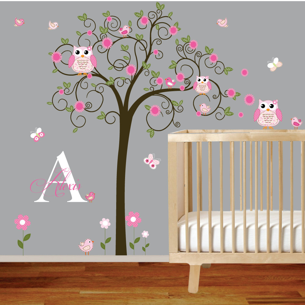 Picture of: Nursery Wall Decals pink