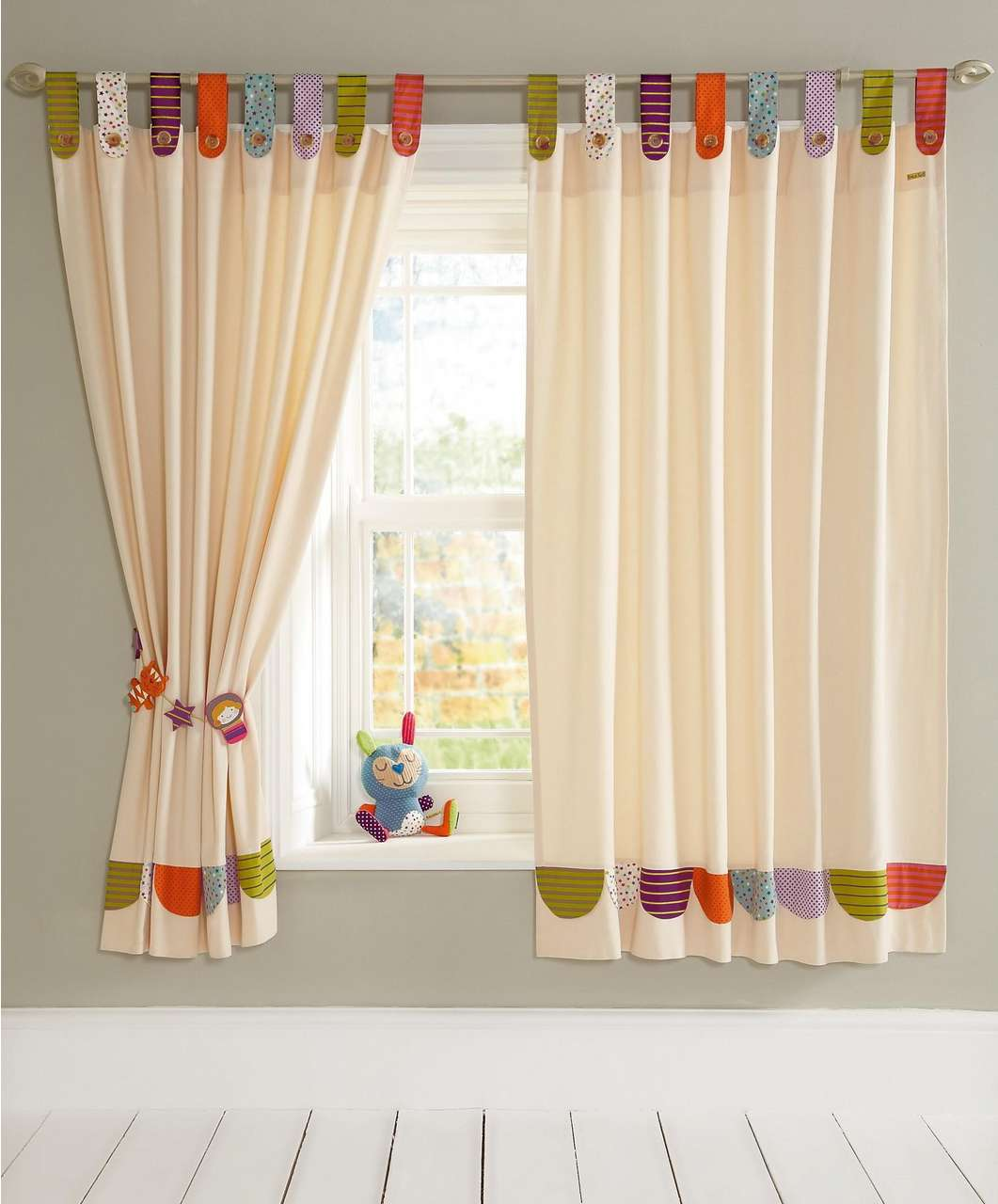 Picture of: Nursery curtains girls