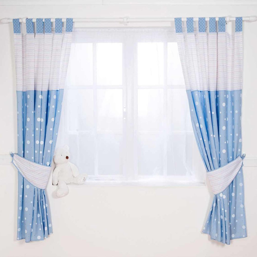 Picture of: Nursery curtains navy