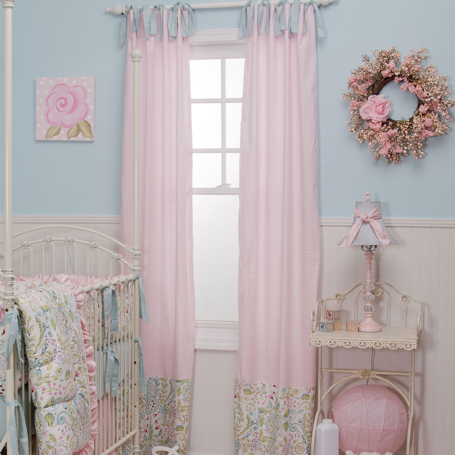 Picture of: Nursery curtains pink
