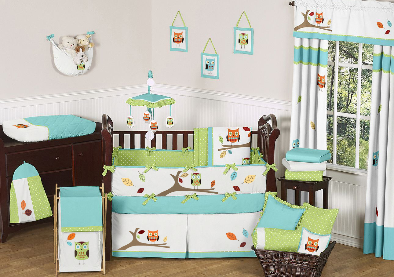 Picture of: Owl Nursery Bedding floor