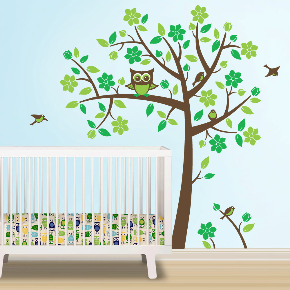 Picture of: Owl Nursery Bedding  green