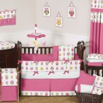 Owl Nursery Bedding red