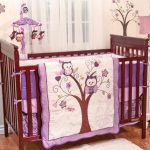 Owl Purple Nursery Bedding