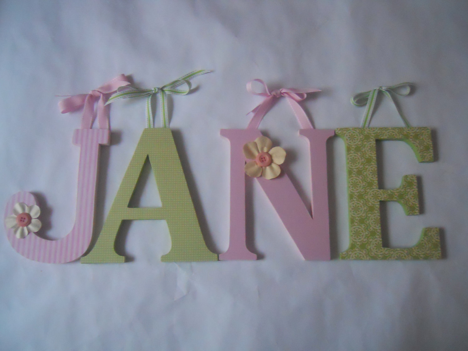 Picture of: Perfect Wooden Letters for Nursery