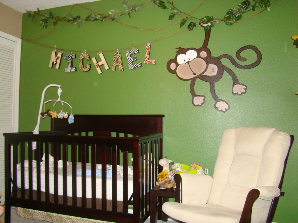 Image of: Photos of Monkey Nursery Decor