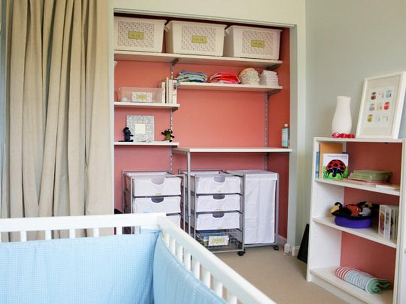 Image of: Photos of nursery closet organizer