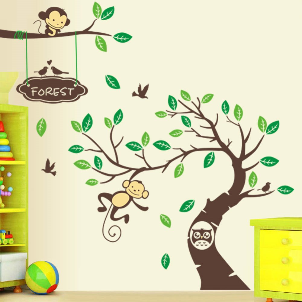 Image of: Picture of Monkey Nursery Decor