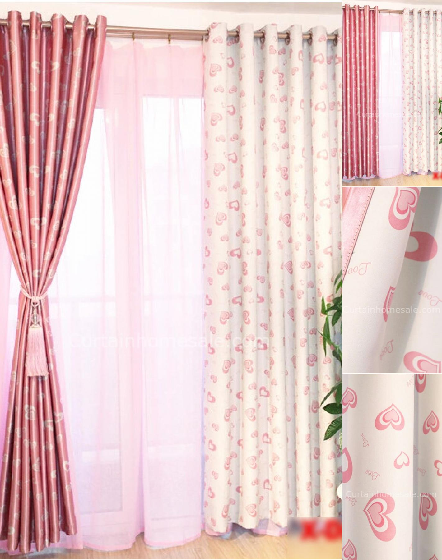 Image of: Pink Blackout Curtains Ideas