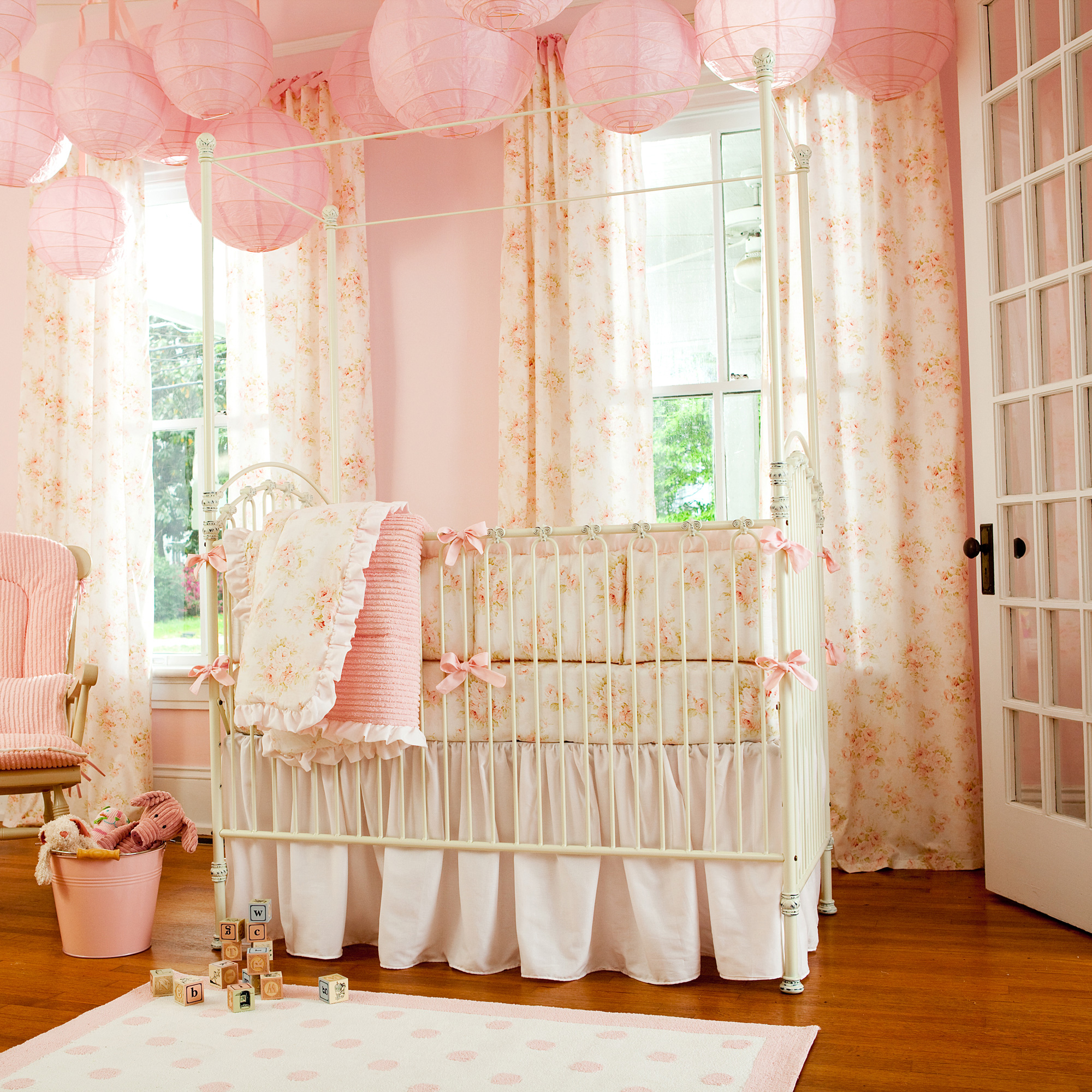 Picture of: Pink Shabby Chic Nursery